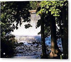 River Walk Dam Acrylic Print by Joyce Kimble Smith