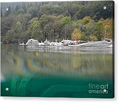 River With Trees Acrylic Print by Mats Silvan