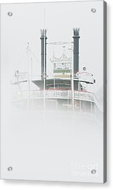 Riverboat In The Fog Acrylic Print by Jeremy Woodhouse