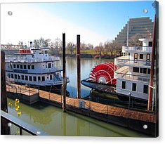 Riverboats Acrylic Print by Barry Jones