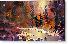 Riverglow Acrylic Print