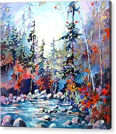 River's Rainbow Acrylic Print