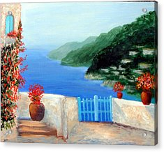 Acrylic Print featuring the painting Riviera by Larry Cirigliano