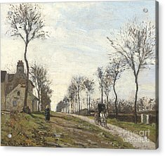 Road In Louveciennes Acrylic Print by Camille Pissarro