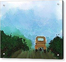 Road Acrylic Print by Mickey Harris