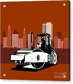 Road Roller  Retro  Acrylic Print by Aloysius Patrimonio