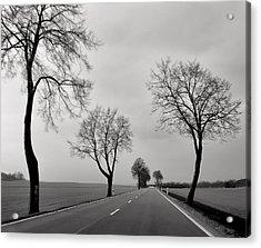 Road Through Windy Fields Acrylic Print
