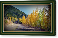 Acrylic Print featuring the photograph Road To Fall by Michelle Frizzell-Thompson