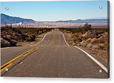 Road To Kelso Dunes Acrylic Print by Dennis Hofelich