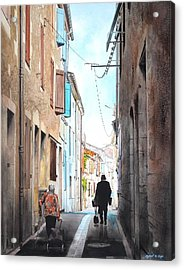Road To Market In Gascony Acrylic Print