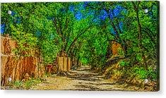 Road To Santa Fe Acrylic Print by Ken Stanback