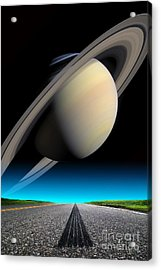 Road To Saturn Acrylic Print by Larry Landolfi and Photo Researchers