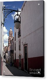 Acrylic Print featuring the photograph Road To The Cathedral Zacatecas Mexico by John  Mitchell