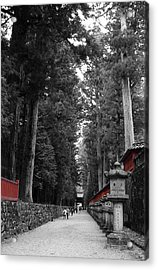 Road To The Temple Acrylic Print by Naxart Studio