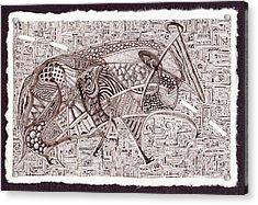 Roadkill Petroglyph Acrylic Print by Buck Buchheister
