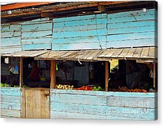 Roadside Fruit Stand- Belize Acrylic Print by Li Newton