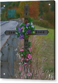 Acrylic Print featuring the photograph Roadside Memorial by Gregory Scott