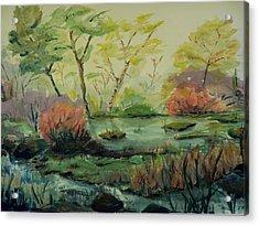 Roadside Pond Acrylic Print