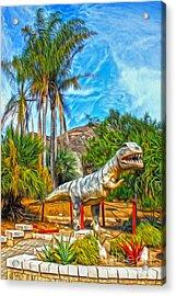 Roadside Raptor Acrylic Print by Gregory Dyer