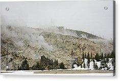 Roaring Mountain In Yellowstone Acrylic Print by Charline Xia