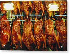 Roasted Ducks And Chickens Acrylic Print by Justin Guariglia