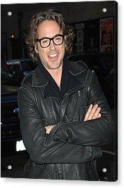Robert  Downey Jr. At Talk Show Acrylic Print by Everett