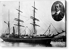 Robert Falcon Scott And His Exploration Acrylic Print by Photo Researchers