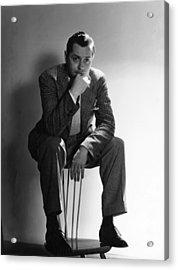 Robert Montgomery, Mgm Portrait Acrylic Print by Everett