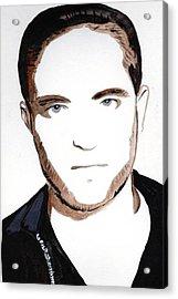 Acrylic Print featuring the painting Robert Pattinson 10 by Audrey Pollitt