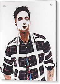 Acrylic Print featuring the painting Robert Pattinson 11a by Audrey Pollitt