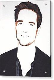 Acrylic Print featuring the painting Robert Pattinson 13 by Audrey Pollitt