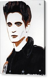 Acrylic Print featuring the painting Robert Pattinson 15 by Audrey Pollitt