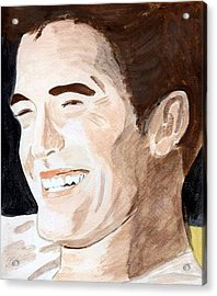 Acrylic Print featuring the painting Robert Pattinson 8 by Audrey Pollitt
