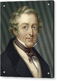 Robert Peel, British Prime Minister Acrylic Print by Sheila Terry