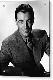 Robert Taylor, Mgm Portrait By Hurrell Acrylic Print by Everett