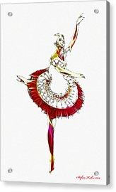 Robot Ballerina Acrylic Print by Steve K