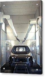 Robotic Car Production Line Acrylic Print by Ria Novosti