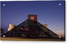 Rock And Roll Hall Of Fame Cleveland Acrylic Print by Everett