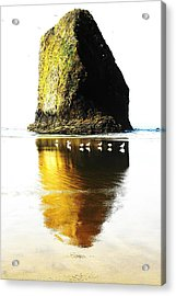 Rock At Silver Point Oregon Acrylic Print