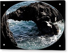 Rock Bridge Acrylic Print by Elizabeth  Doran