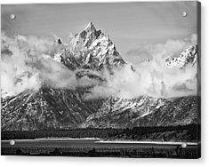 Rock Chuck Peak   Jackson Lake Wyoming Acrylic Print by Gordon Ripley