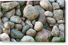 Rock Collection Acrylic Print by Michael Carrothers
