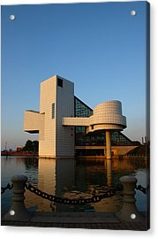Rock Hall In The Evening Acrylic Print by Allan Wrona