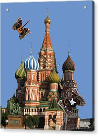 Rock On Moscow Acrylic Print
