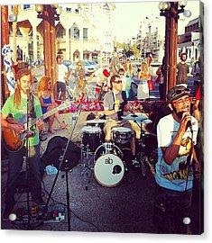 #rock #streetparty #band #rasta #party Acrylic Print
