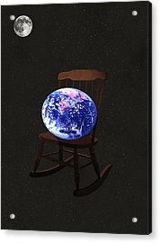 Rock The World Acrylic Print by Eric Kempson
