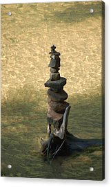 Acrylic Print featuring the photograph Rock Tower Lake Superior by Peg Toliver