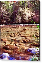 Rock Work Acrylic Print by Janice Spivey