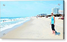 Acrylic Print featuring the photograph Rockaway Beach Sparkle by Maureen E Ritter