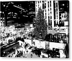 Rockefeller Tree Bw8 Acrylic Print by Scott Kelley
